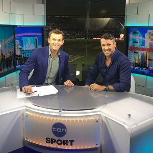 Lee Carseldine on Channel 10 Sport