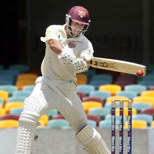 Lee batting for the Queensland Bulls