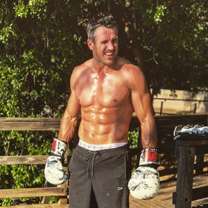 Lee Carseldine keeps fit by boxing