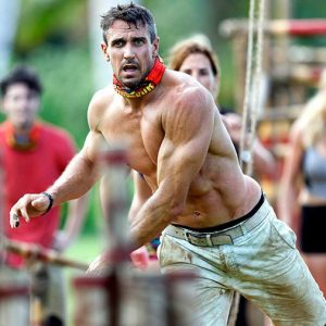 Lee Carseldine competing on Australian Survivor