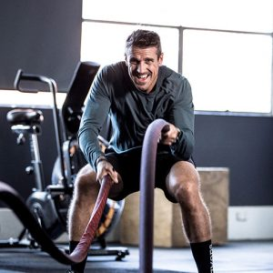 Lee Carseldine keeps fit by working out